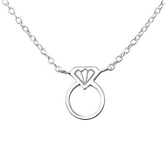 Ring - 925 Sterling Silver Plain Necklaces
