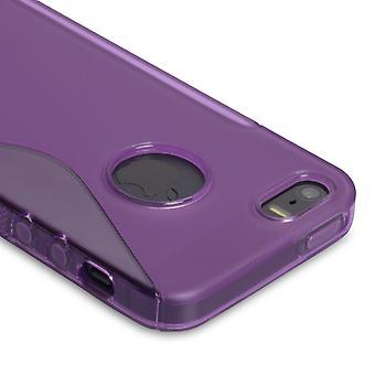 Caseflex Iphone 5 y 5s caso Gel S-Line - púrpura