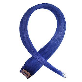 Blau - Clip in Hair Streifen
