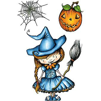 Carabelle Studio Cling Stamp A6 By La Rafistolerie-A Pretty Witch SA60313