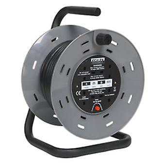 Sealey Bcr2525 Cable Reel 25Mtr 2 X 230V Heavy-Duty