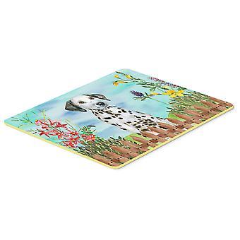 Carolines Treasures  CK1270CMT Dalmatian Puppy Spring Kitchen or Bath Mat 20x30
