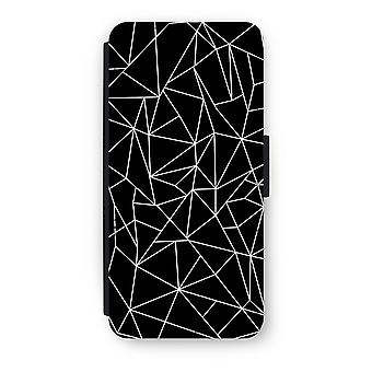 iPhone 5c Flip Case - Geometric lines white