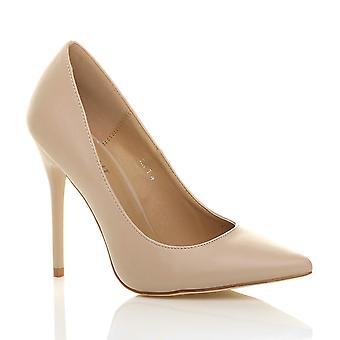 Ajvani womens high heel pointed contrast court smart party work shoes pumps