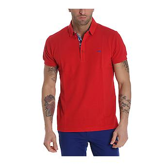 ETRO men's 1Y8009154604 red cotton polo shirt