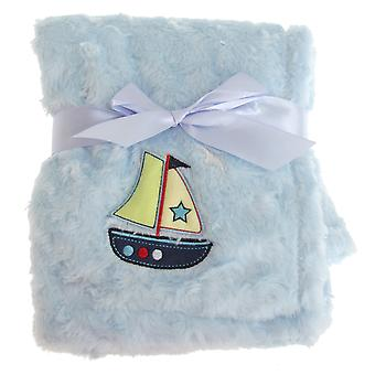 Snuggle Baby Blue Baby Wrap For Someone Special With Boat Design