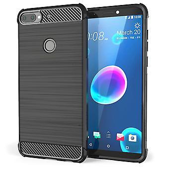 HTC Desire 12 et carbone Anti chute TPU Case - noir