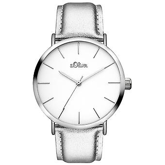 s.Oliver kvinnors watch armbandsur läder SO-3509-LQ