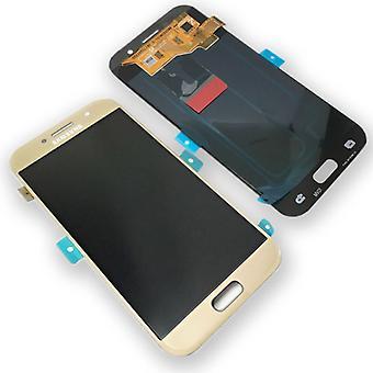 Wyświetlacz LCD kompletny zestaw GH97-19733 B złoto dla systemu Samsung Galaxy A5 A520F 2017