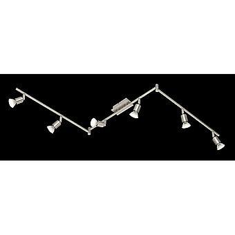Trio Nimes moderne Nickel Matt Metall Spot Beleuchtung