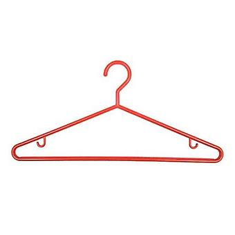 One Pack of 3 Red Plastic Hangers