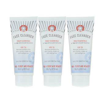 First Aid Beauty Face Cleanser Daily Essentials 2.0Oz/57.7g New [Pack Of 3]