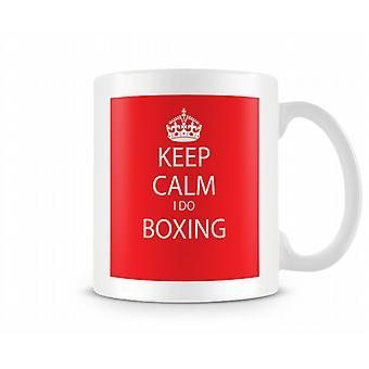 Gardez le calme que je fais de boxe imprimé tasse