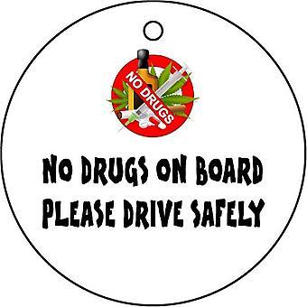 No Drugs On Board Car Air Freshener