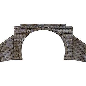 N, TT Tunnel portal 2-track Assembled Busch