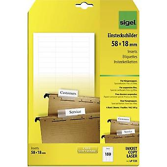 Sigel Suspension file tag insert 58 mm x 18 mm LP725