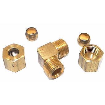 Big A Service Line 3-165400 Brass Pipe, 90 deg Street Elbow Fitting 1/4