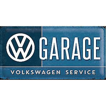 Volkswagen Vw Garage grote reliëf stalen teken (500 Mm X 250 Mm)