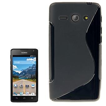 Handyhülle Silikon Case (S-Curve) für Handy Huawei Ascend Y530 schwarz