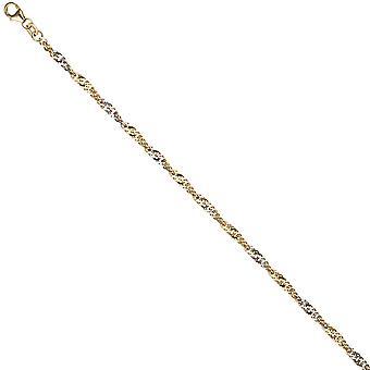 Cavigliera catena 925 placcato oro argento oro 2,9 millimetri 25cm