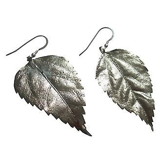 Blattohrringe silber Hibiskus Blatt Ohrringe in 925 Silber