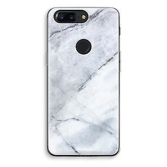 OnePlus 5T Transparent Case (Soft) - Marble white