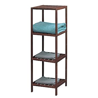 Knight Pippa 4 Tier Wooden Shelf Dark Colour Easy to Store, Sturdy and Durable
