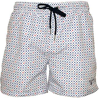 Gant Polka Drop stampa Swim Shorts, White/multi