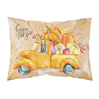 Fall Harvest Doberman Pinscher Fabric Standard Pillowcase