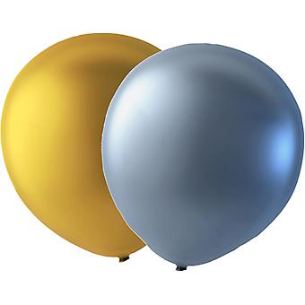 paquete de 24 globos de oro/plata