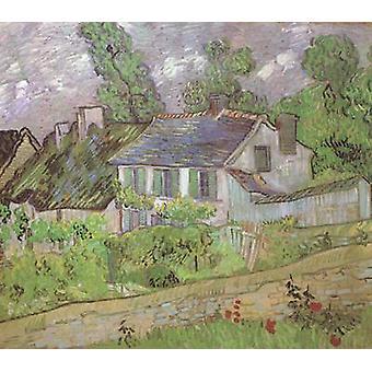 House in Auvers,Vincent Van Gogh,60.6x73cm