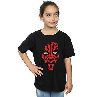Star Wars ragazze Darth Maul Face t-shirt