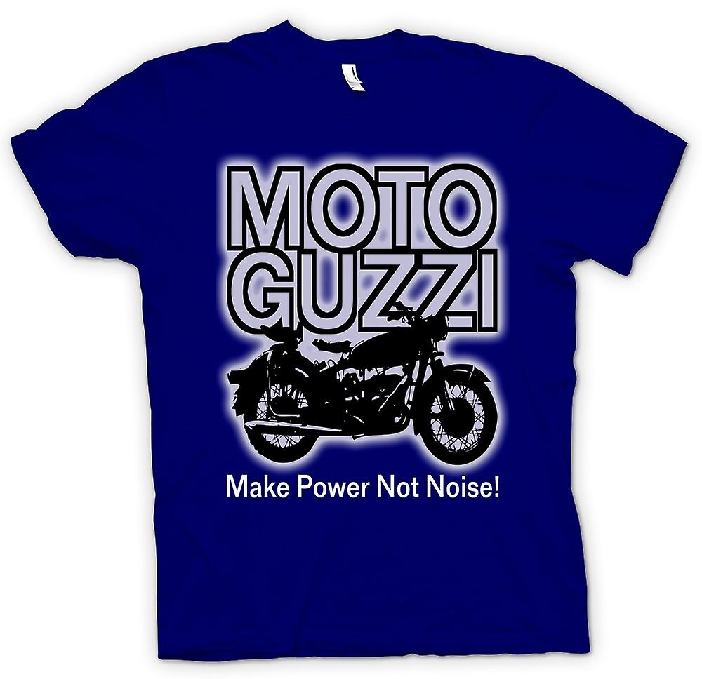 Mens T-shirt - Moto Guzzi Maak Power Niet Noise