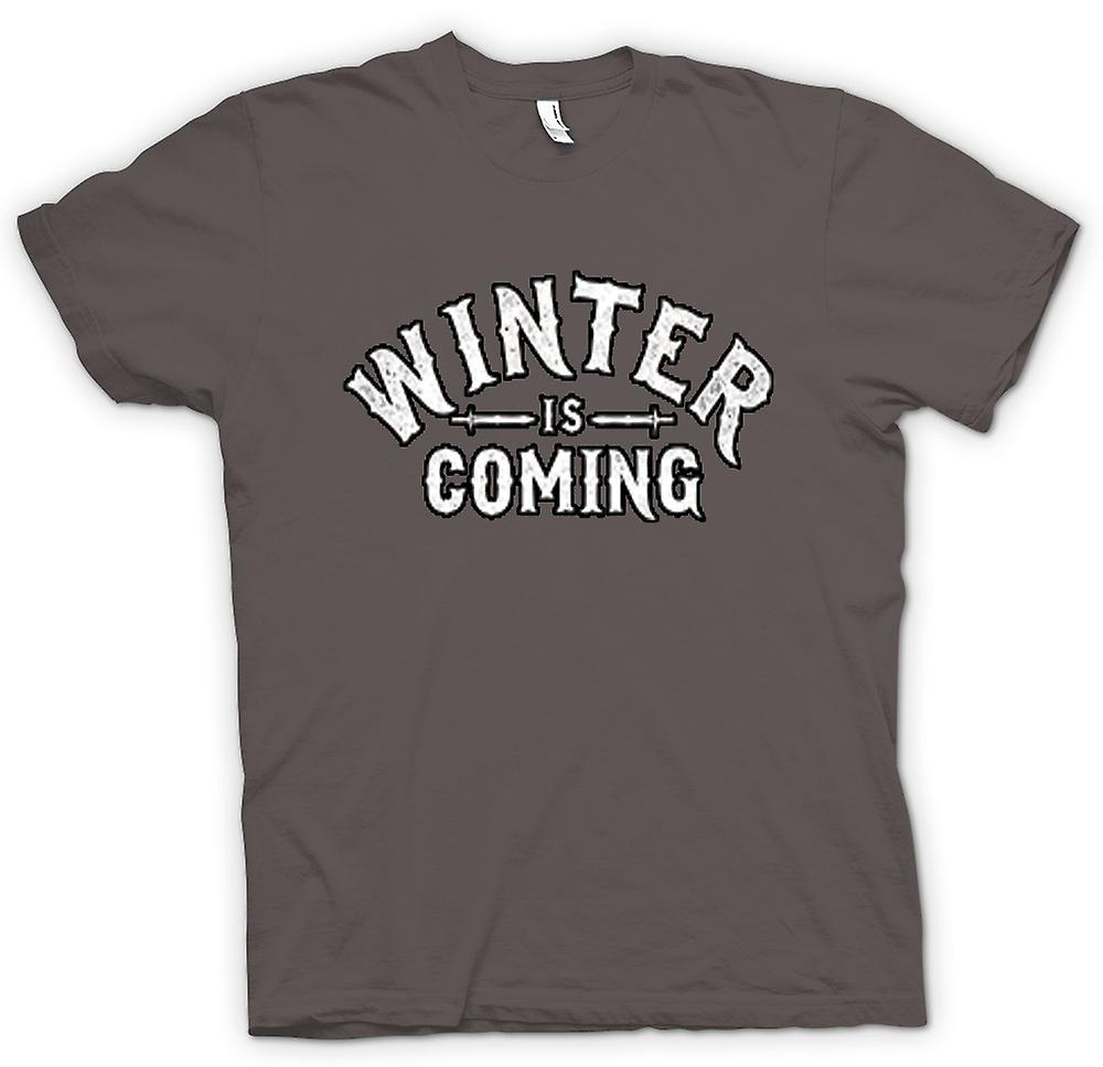 Heren T-shirt-Winter Is Coming belettering