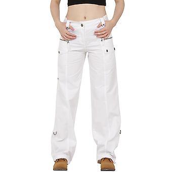 Wide Leg Cotton Cargo Trousers