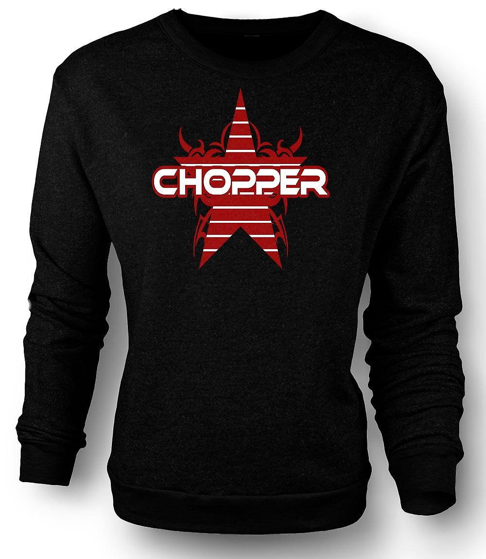 Mens Sweatshirt Chopper Bike rétro - Funny
