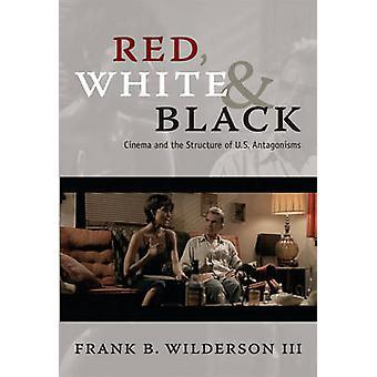 Röd - vit- och svart - film och strukturera av US motsättningar