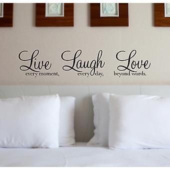 Live Laugh Wall Art Sticker