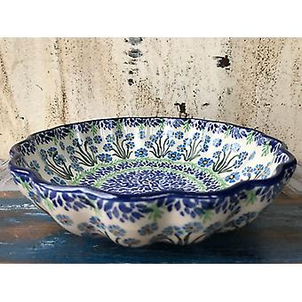 Dish, with a wavy margin, Ø 27.5 cm, height 7.5 cm, forget me not, BSN J-4659
