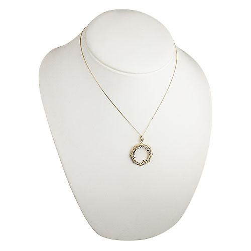 9ct Gold 29mm Full Sovereign mount with a diamond cut Bezel Pendant with a curb Chain 18 inches