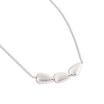 PEARLS FOR GIRLS jewelry stylish ladies leaves necklace made of silver plated metal silver