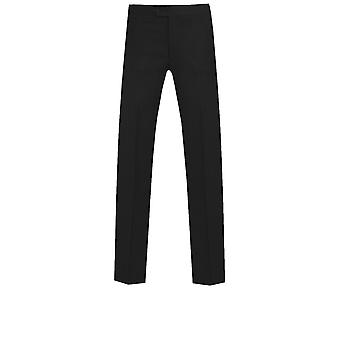Dobell Mens Black Tuxedo Trousers Skinny Fit Satin Side Stripe