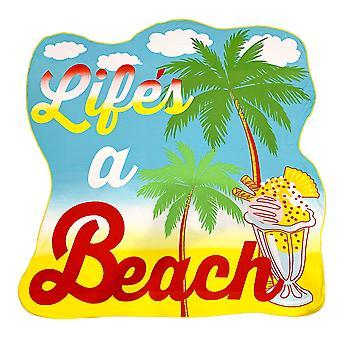 Alfresco vormige strandlaken, leven van een strand