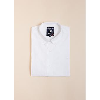 Long Sleeve Signature Oxford Shirt - White