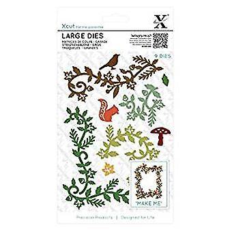 Xcut Large Dies (9pcs) - Woodland Flourishes (XCU 503436)