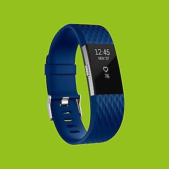 De plástico de Fitbit lote 2 / pulsera de silicona para hombres tamaño reloj azul L