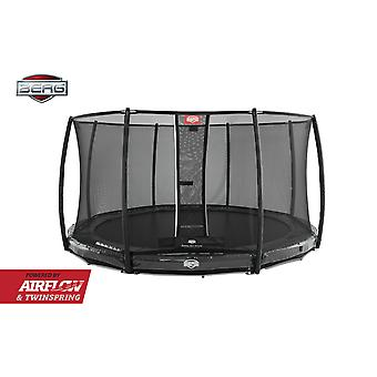 BERG InGround Elite 380 12.5ft Trampoline + Safety Net Deluxe Grey