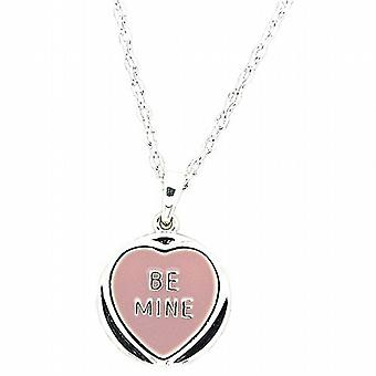 Genuine Licensed Love Hearts 'Be Mine' Lilac Sweet Pendant On 18 Inch Chain