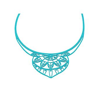 India silicone necklace tattoo effect blue