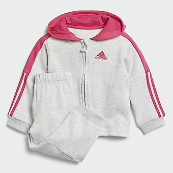 Adidas Infant logo Hooded Fleece Full Zip Tracksuit Set - DJ1588